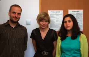 Nowi pracownicy Stowarzyszenia. Od lewej: Krzysztof Machocki, Marta Moraczewska i Natalia Szafran-Kozakowska (fot. Polimerek, licencja CC-BY-3.0)