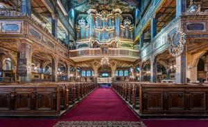 Wnętrze Kościoła Pokoju w Świdnicy, nagroda w kategorii Architektura Drewniana (fot. Jar.ciurus, licencja CC-BY-SA-3.0)