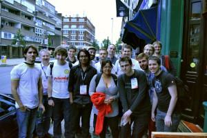 Spotkanie stewardów i byłych stewardów projektów Wikimedia podczas Wikimanii 2014 w Londynie (fot. Masti, licencja: CC-BY-SA-3.0)