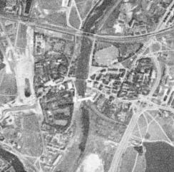 Poznań na zdjęciu satelitarnym wykonanym w 1965 roku, zdigitalizowanym w ramach wikigrantu