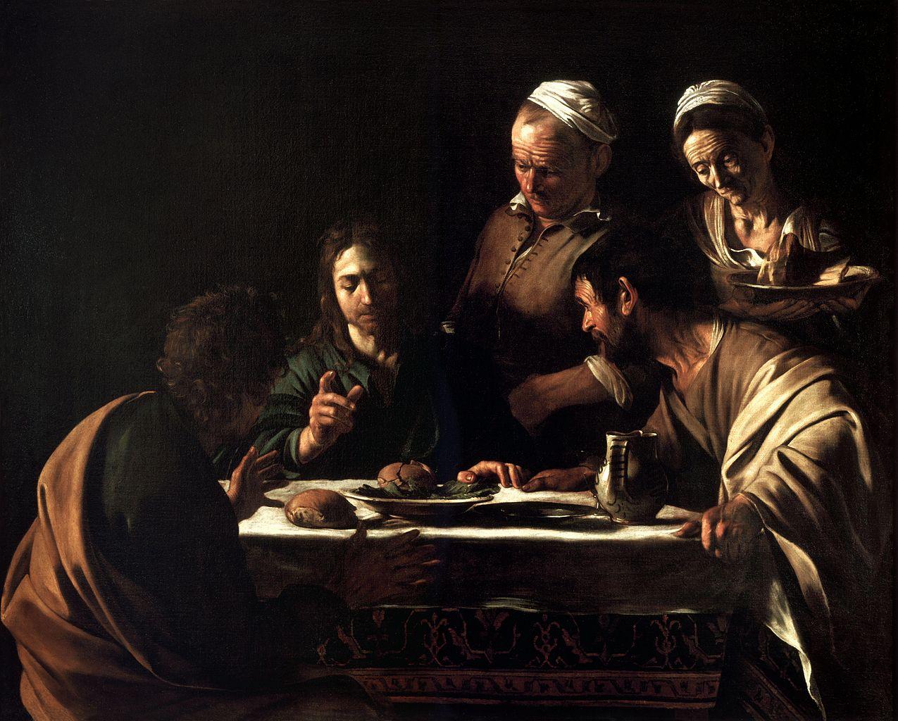 Caravaggio, Wieczerza w Emaus