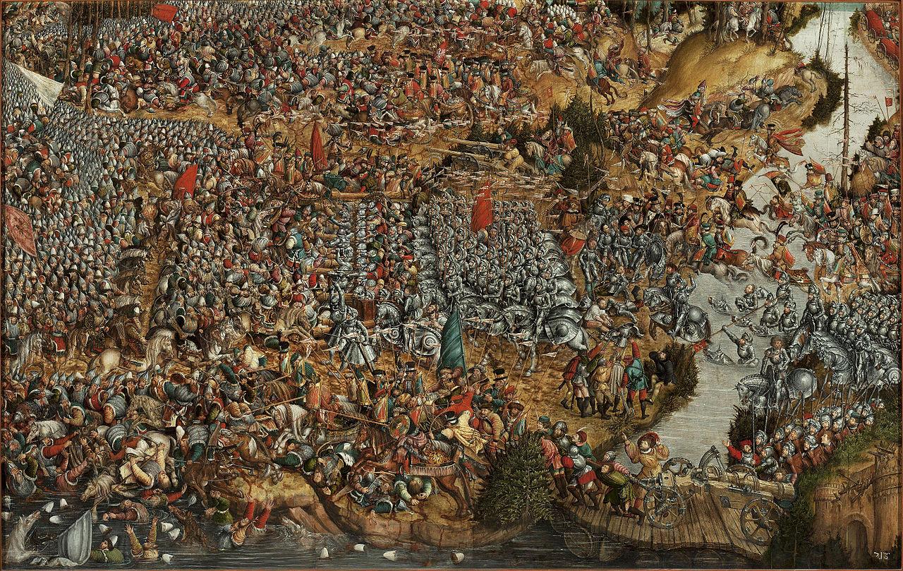 Autor nieznany (malarz z kręgu Lukasa Cranacha Starszego), Bitwa pod Orszą